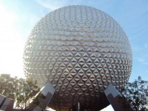 """Spaceship Earth - A """"bola"""" do Epcot."""