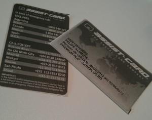 Seguro viagem: carteirinha impressa do assist card