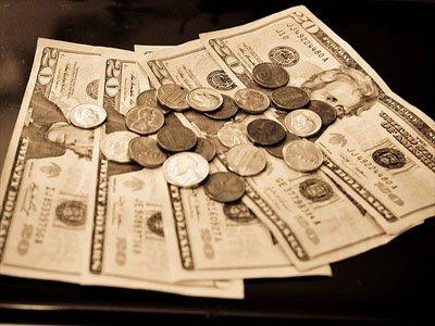 dinheiro dolares em especie