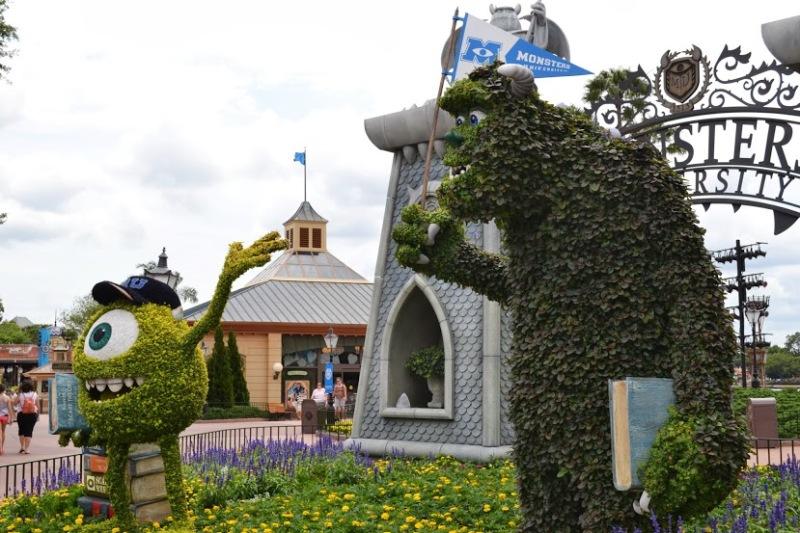 Personagens do Monstros S.A. criados em arbustos no Flower & Garden Festival que começa em Março no Epcot