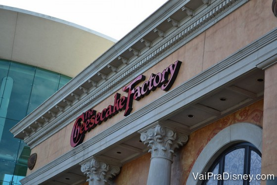 Cheesecake Factory de Orlando, no Mall at Millenia.