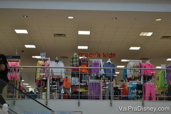 Um pouquinho da área infantil da Macy's.