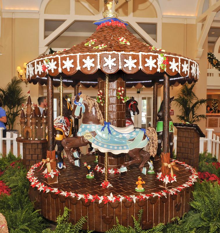 Foto do carrossel de gingerbread do hotel Beach Club