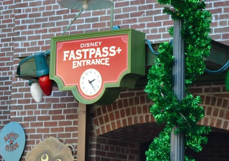 Entrada do Fastpass+ para a atração do Muppets no Hollywood Studios