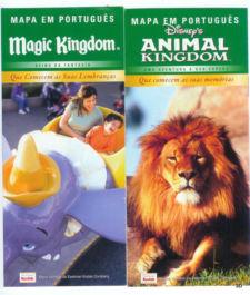 Disney sem falar inglês: Mapinhas da Disney em português. Esses são antigos, de 2008