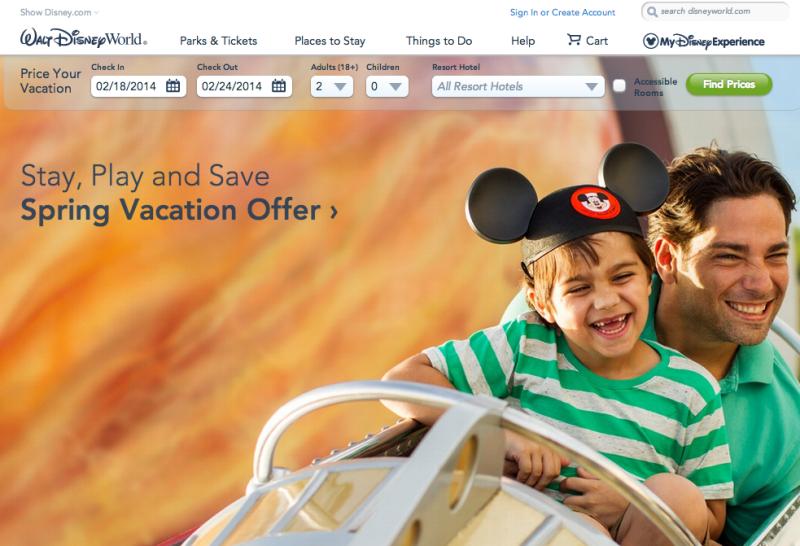 My Disney Experience: feito a partir do site americano da Disney. O site brasileiro ainda não entrou no sistema