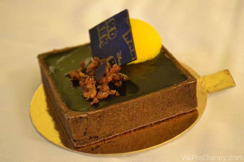 Uma das muitas delícias da Boardwalk Bakery: torta de manteiga de amendoim, chocolate, banana e bacon.