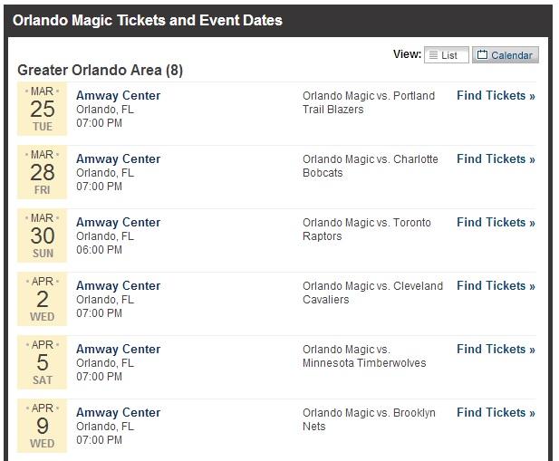 NBA - Lista com os jogos do Orlando Magic que vão acontecer em Orlando