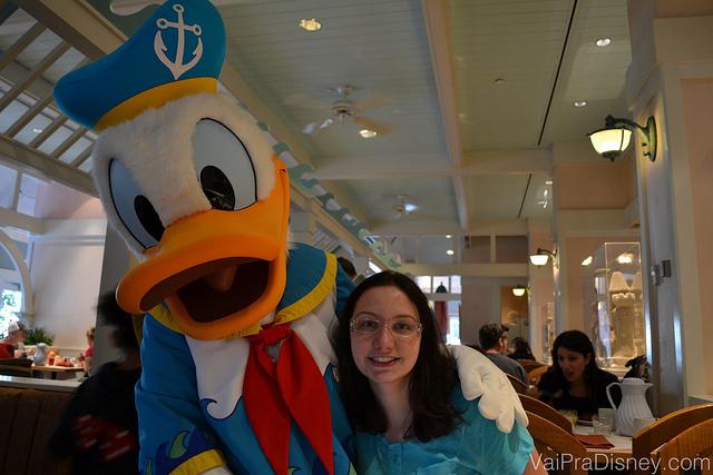 Pato Donald na versão praia. Muito fofo.