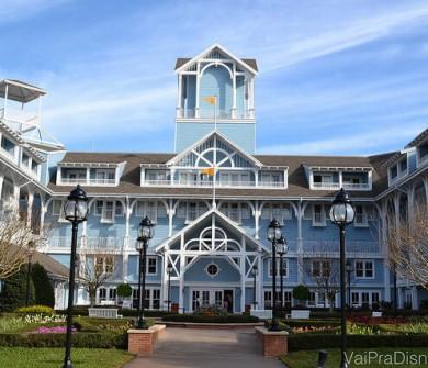 O Beach Club também é lindo! Mais um hotel de luxo da Disney.
