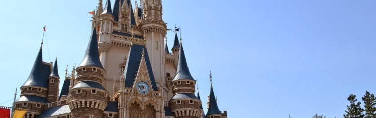 Castelo da Cinderela em Tóquio. Bem parecido com o original em Orlando