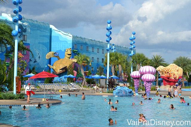 Um dos hotéis mais incríveis da Disney, o Art of Animation.