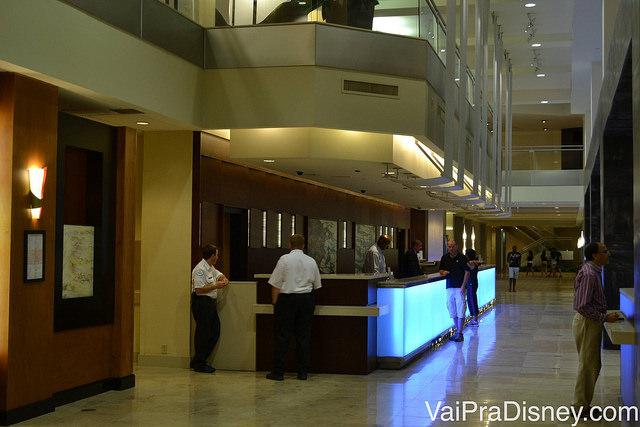 Foto da recepção do do Hilton Lake Buena Vista