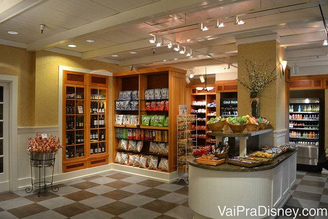 Foto do mercadinho do Hilton Lake Buena Vista. Ótima opção para as compras de última hora