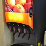 Opções de sucos que já estão incluídos no valor da diária do Hampton Inn