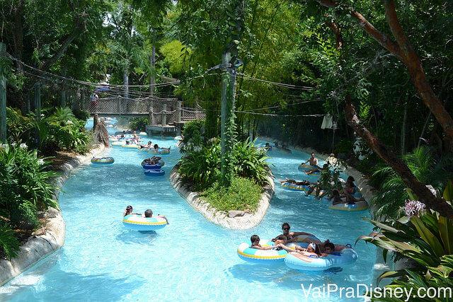 Nada como relaxar em um rio de correnteza no Typhoon Lagoon no calorão de Agosto