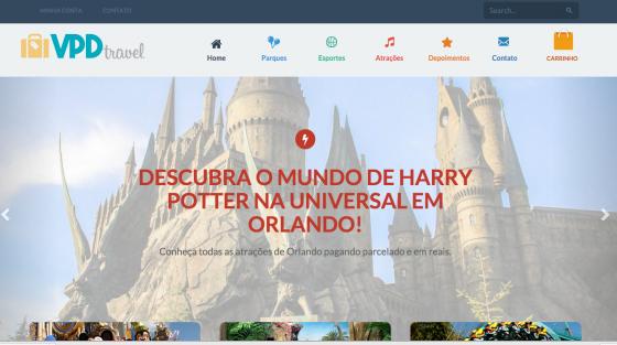 A carinha do nosso site de vendas, o VPD Travel. :)