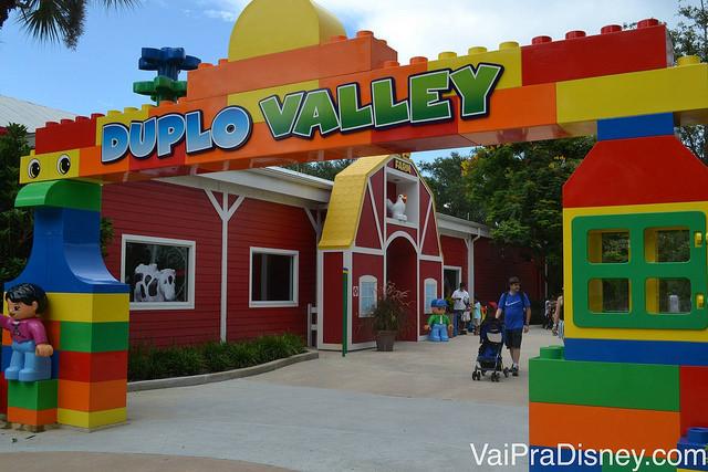 Entrada da área que os pequenos mais vão aproveitar no Legoland
