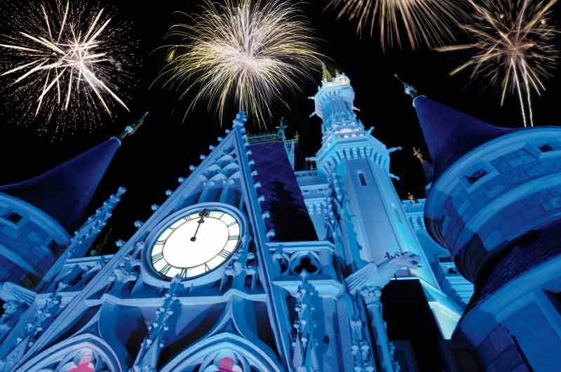 Os fogos de ano novo do Magic King. Um espetáculo imperdível