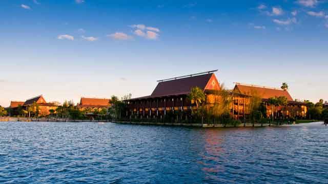 Além de lindo, o Polynesian fica pertinho do Magic Kingdom. Uma ótima parada antes de um dia no parque.