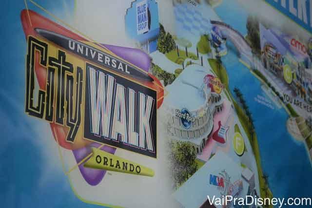 CityWalk, a central de diversão da Universal em Orlando