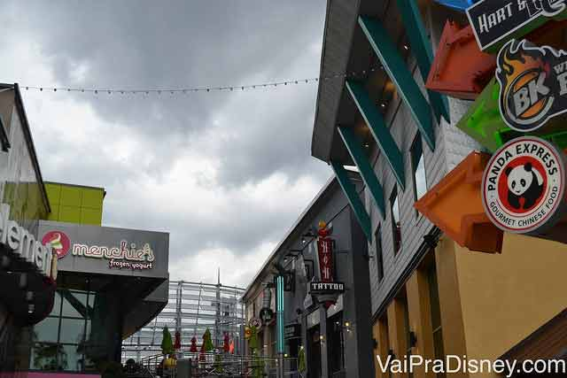 Fast foods no CityWalk, na Universal Orlando