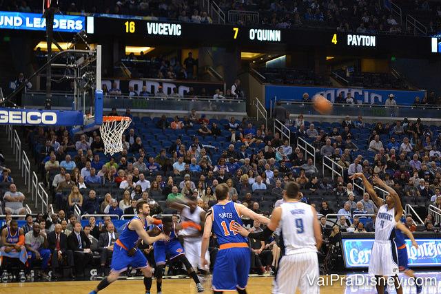 Orlando Magic vs. New York Knicks em algum jogo do ano passado! O Magic ganhou! :D