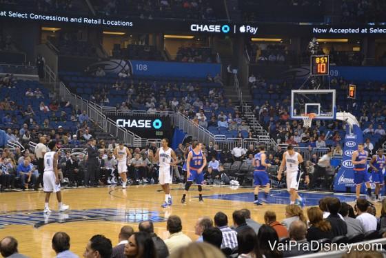Ainda tem alguns jogos da NBA rolando em Orlando no mês de março.