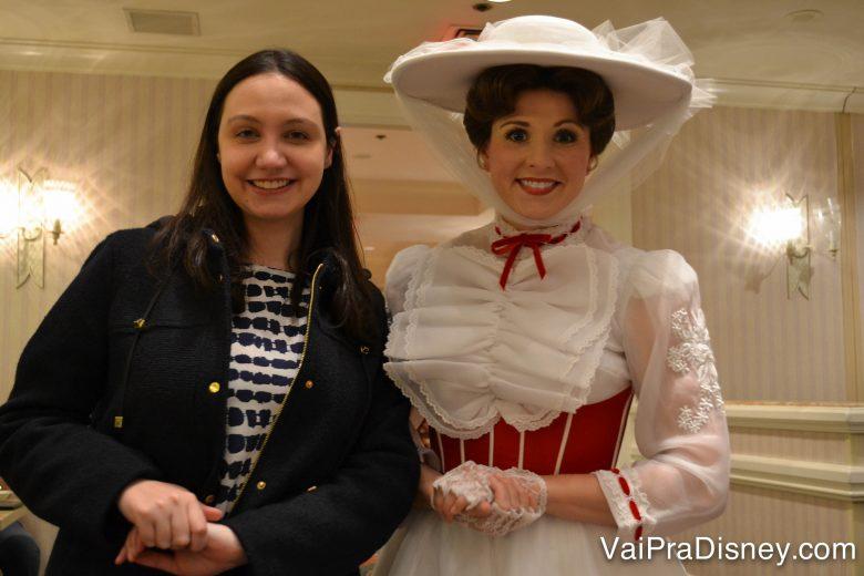Você pode encontrar o Mickey no Chef's Mickey, mas para mim encontrar a Mary Poppins no 1900 Park Fare é insuperável!