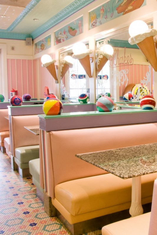 Beaches & Cream, uma lanchonete vintage na Disney