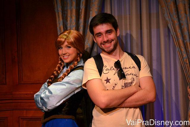 Anna e Felipe no Princess Fairytale Hall. Eu e o Kristoff estamos de olho, viu? ;)