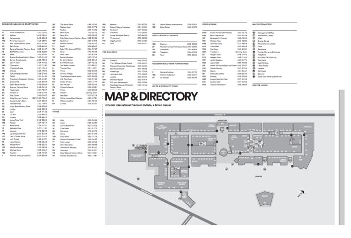 Mapa Premium Outlet - site
