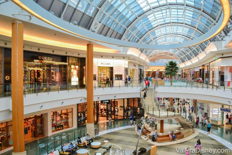 Parques e compras: a dúvida de qualquer roteiro brasileiro em Orlando. Na foto: Mall at Millenia