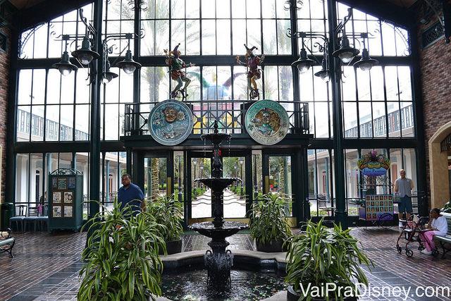Entrada do Port Orleans French Quarter. Representação de Nova Orleans