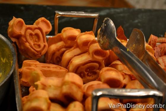 As famosas waffles do Mickey também são servidas no 1900 Park Fare