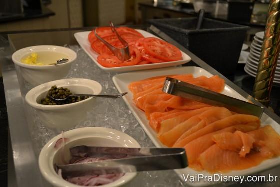 ... até salmão que muita gente não curte mas o meu pai adora!