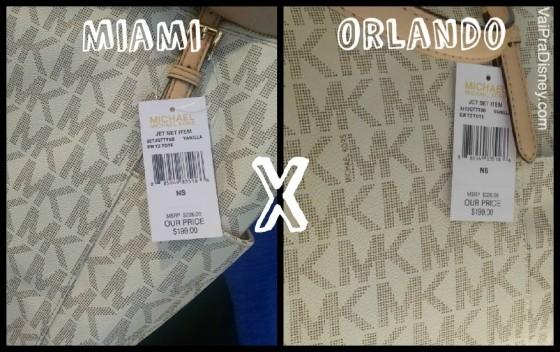 100 dicas em 100 dias: preços da bolsa Michael Kors em Orlando e em Miami