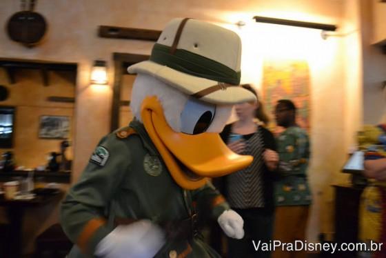 O Donald é o personagem tema da refeição no Tusker House então ele é sempre presença garantida por lá.