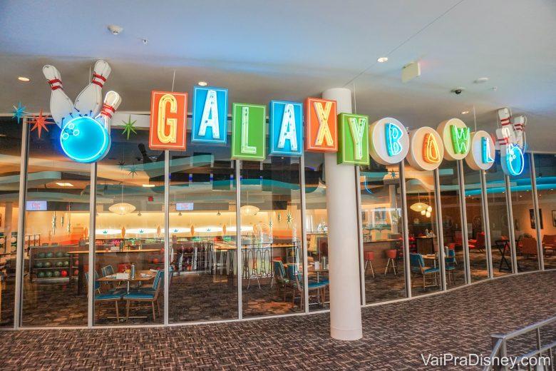 Galaxy Bowl, a pista de boliche do Cabana Bay