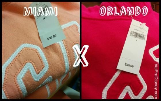 f059bc90c8c Miami ou Orlando  onde é mais barato comprar