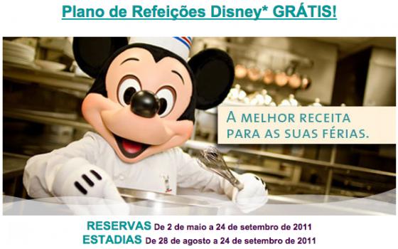 Exemplo do flyer beeeeeem antigo de promoção que aconteceram em 2011. Todas as promoções dos Hotéis da Disney trazem nas regras as datas para reservas e para a estadia dentro da promoção.