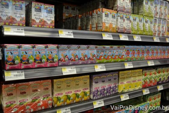 Os sucos vendidos no Whole Foods são todos sem corantes artificiais!