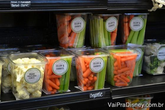 Salsão e cenoura na versão snack.