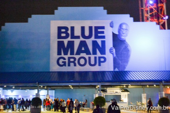 Entrada do teatro do Blue Man Group em Orlando