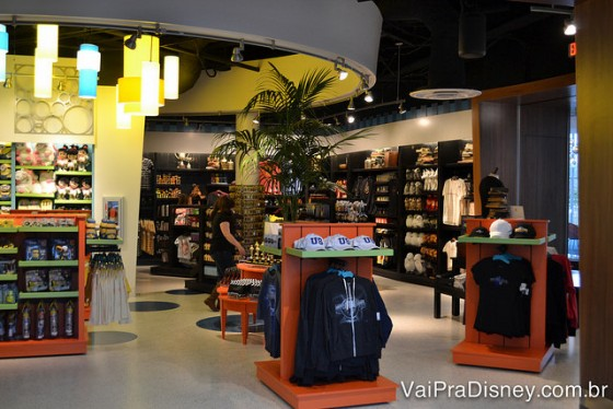 Lojinha de souvenirs da Universal dentro do Cabana Bay