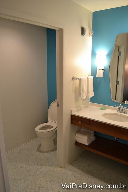 """O outro lado da """"vista"""" com a cabine onde fica o vaso sanitário"""