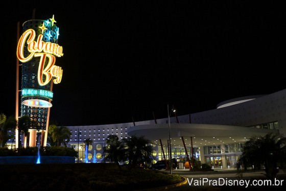 Fachada do Cabana Bay, hotel econômico (prime value) da Universal.