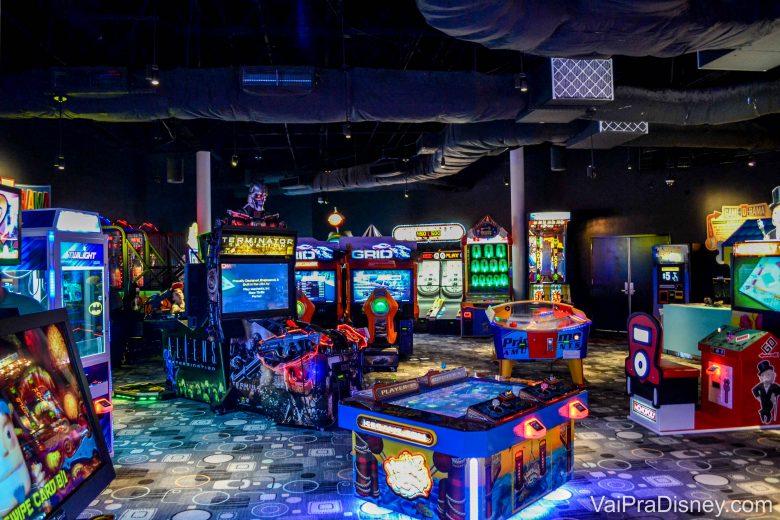 A sala de jogos Game-O-Rama do Cabana Bay