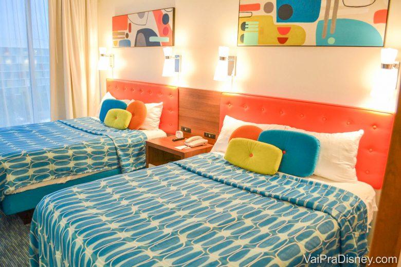 """Foto de parte do apartamento """"Family Suite"""", mostrando duas camas de casal tamanho queen"""