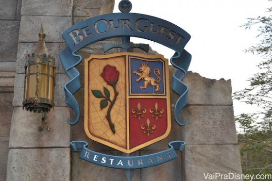 Outro restaurante super popular no Magic Kingdom é o Be Our Guest.